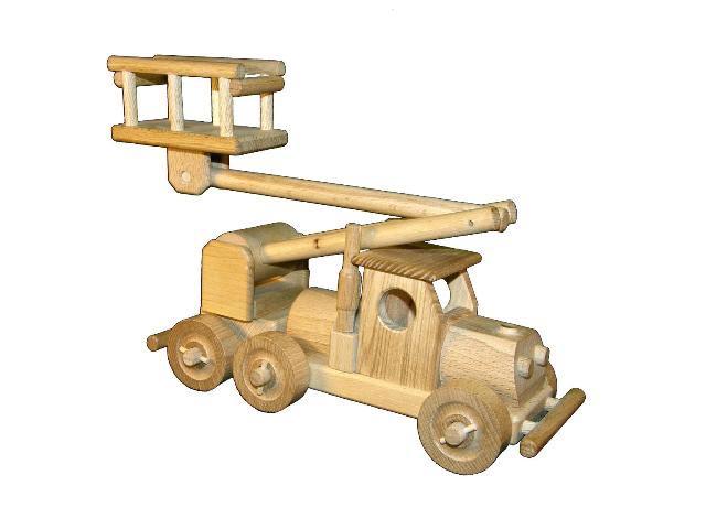 Auto s plošinou , dřevěná hračka