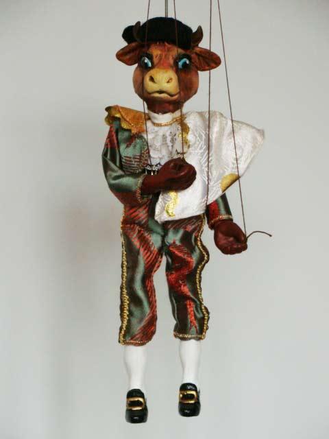 Býk toreádor , originální loutka