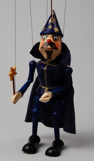 Čaroděj , loutka marioneta
