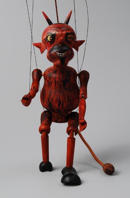 Ďábel , loutka marioneta