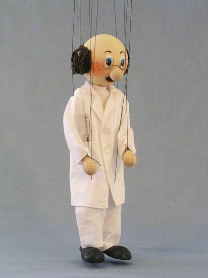 Doktor, dřevěná loutka