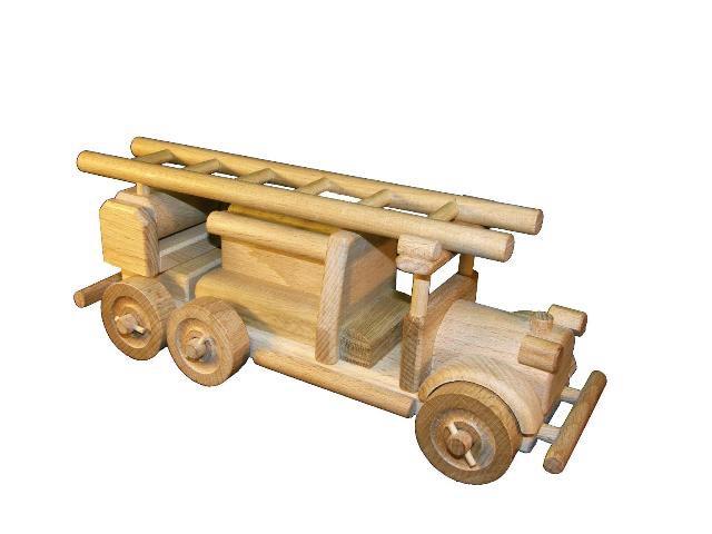 Hasiči , dřevěná hračka