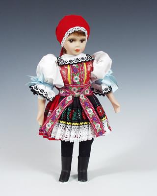 Kyjov , panenka v národní kroji