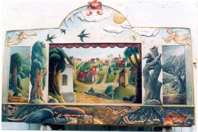 Dřevěné Loutkove divadlo