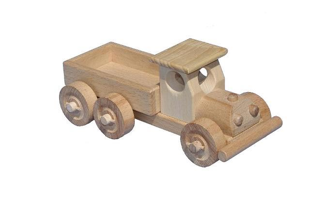Nákladní auto , dřevěná hračka