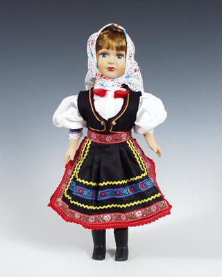 Dobrá Niva  , panenka v národní kroji