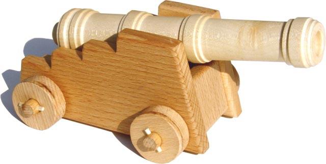 Pevnostní dělo , dřevěná hračka