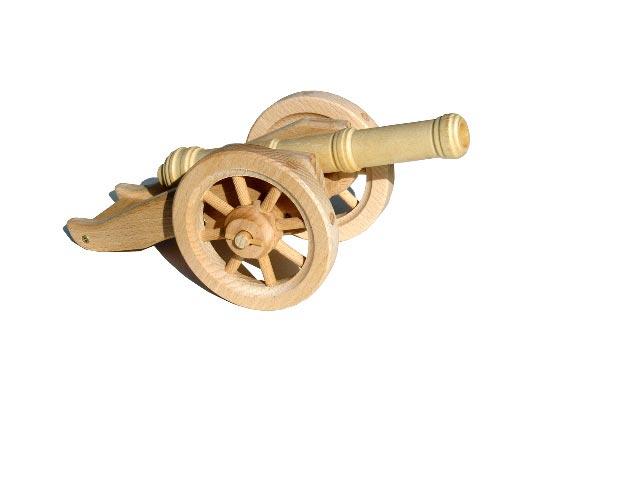 Polní dělo lehké , dřevěná hračka