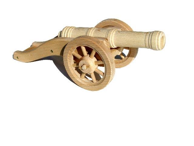 Polní dělo těžké , dřevěná hračka