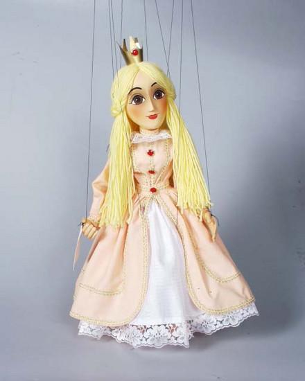 Princezna , dřevěná loutka