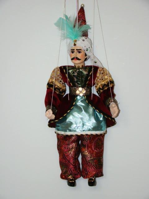 Sultán , originální loutka