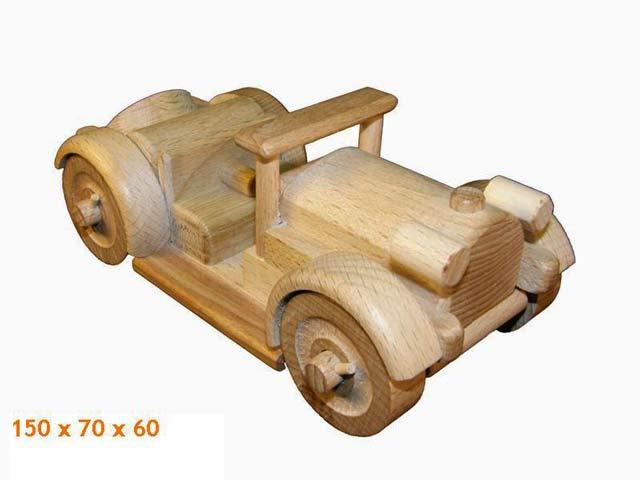 Veterán , dřevěná hračka