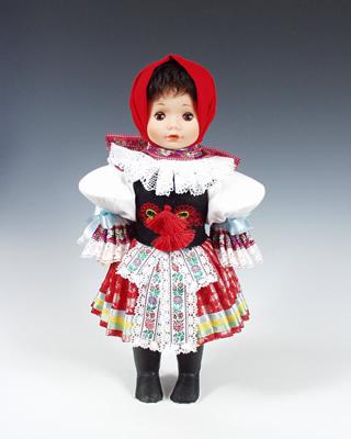 Vlčnov , panenka v národní kroji