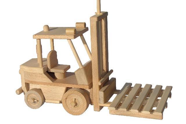 Vysokozdvižný vozík , dřevěná hračka