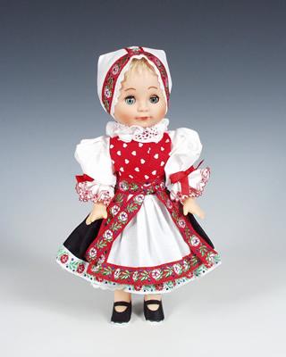 Záhori , panenka v národní kroji