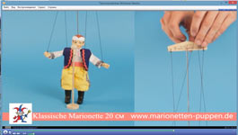 Management of a small marionette, 20см