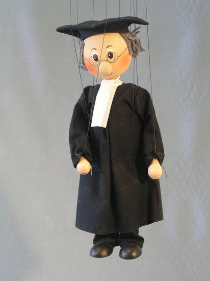 Advokát dřevěná loutka