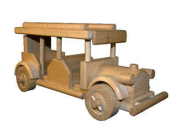 Autobus retro dřevěná hračka