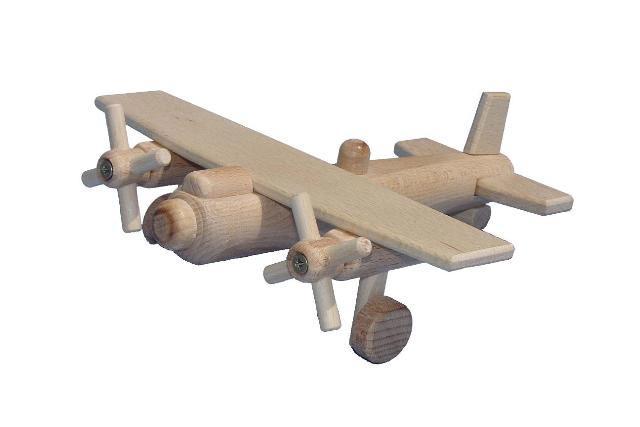 Bombardér dřevěná hračka