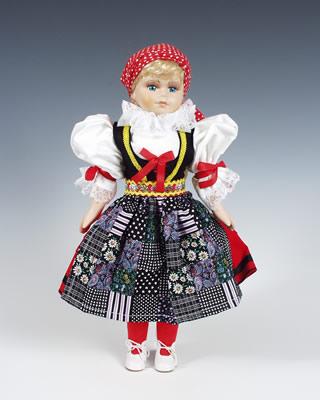 Cheb panenka v národním kroji