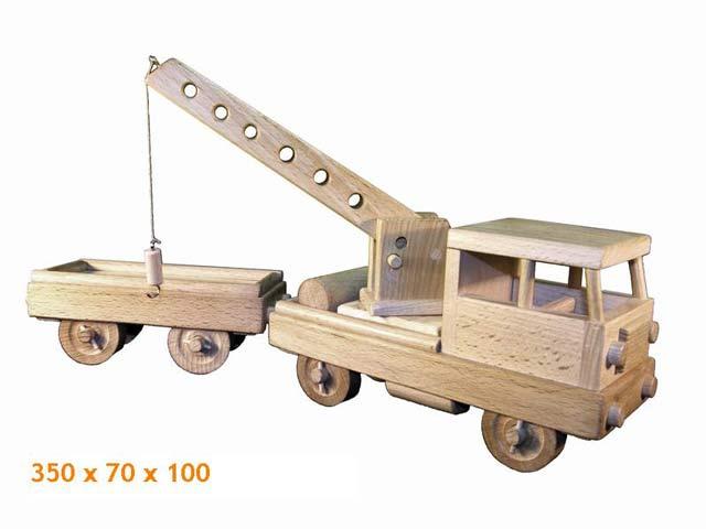 Drezína dřevěná hračka