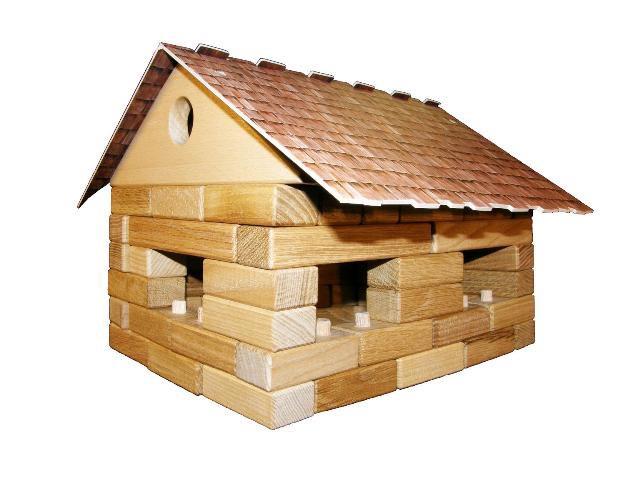 Dvojdomek dřevěná hračka