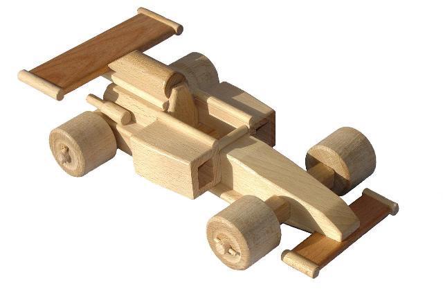 Formule 1 dřevěná hračka