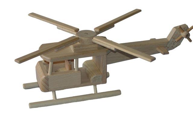 Helikoptéra dřevěná hračka