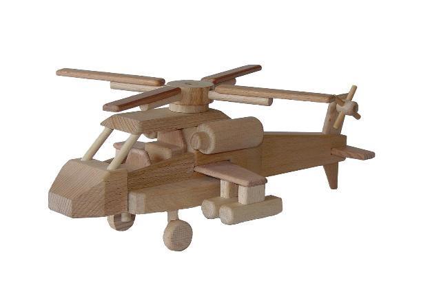 Helikoptéra , dřevěná hračka