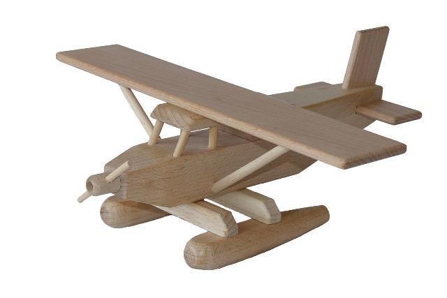 Hydroplán dřevěná hračka