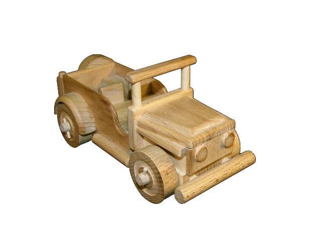 Jeep dřevěná hračka