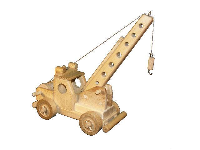Jeřáb dřevěná hračka