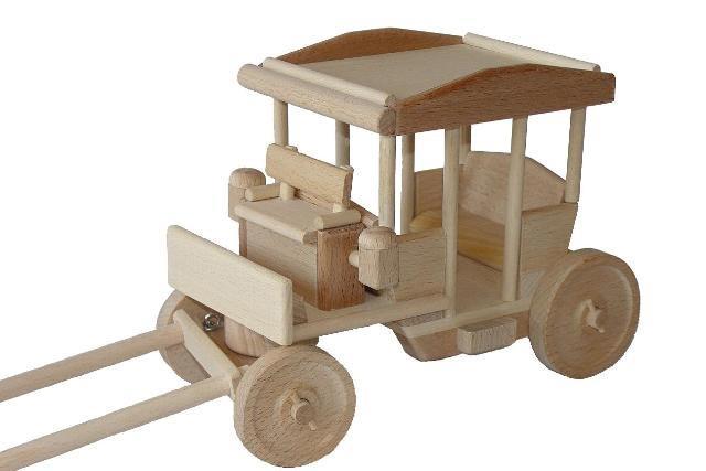 Kočár dřevěná hračka