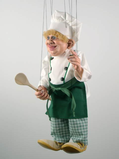 Kuchař originální loutka