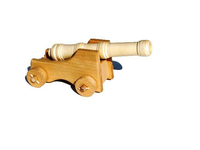 Lodní dělo dřevěná hračka