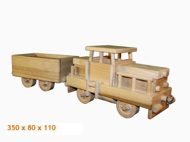 Lokomotiva dřevěná hračka