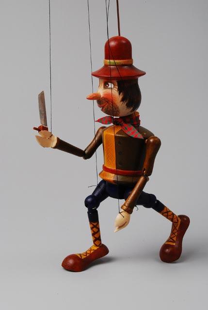 Loupežník , loutka marioneta