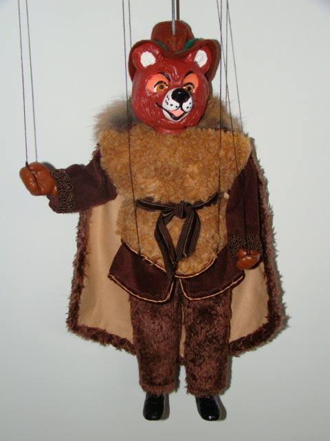 Medvěd originální loutka