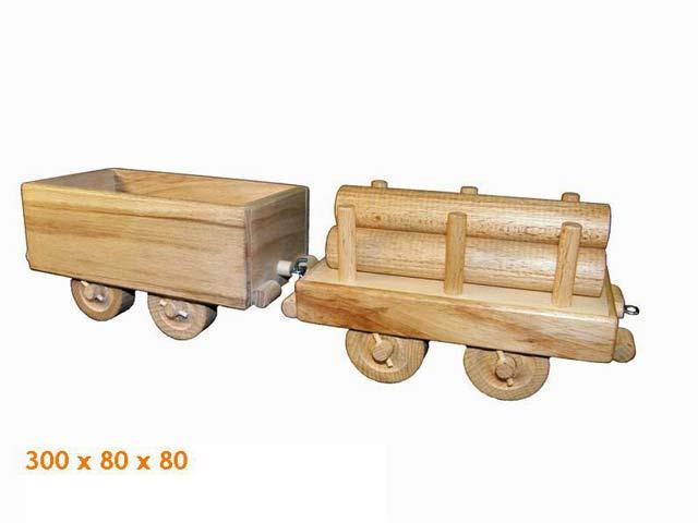 Nákladní vagóny dřevěná hračka