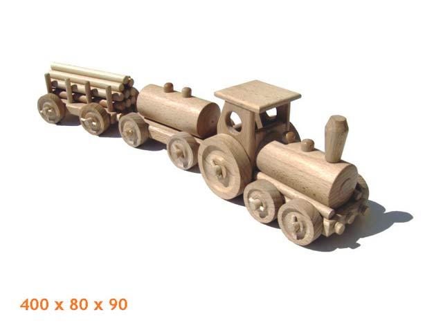 Nákladní vlak dřevěná hračka