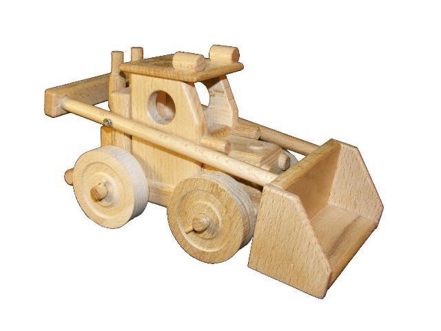 Nakládač dřevěná hračka