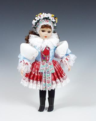 Boršice panenka v národním kroji