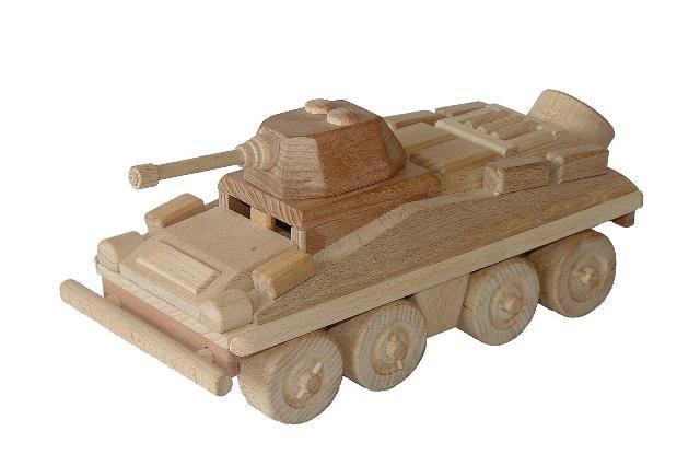 Obrněný transportér , dřevěná hračka