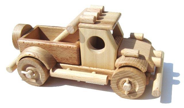 Off road dřevěná hračka