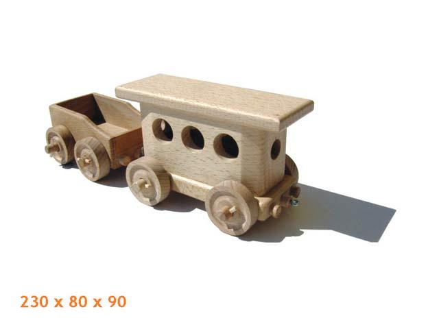 Osobní vagón dřevěná hračka