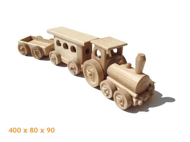 Osobní vlak dřevěná hračka