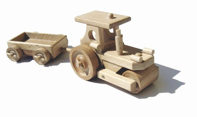 Parní válec dřevěná hračka