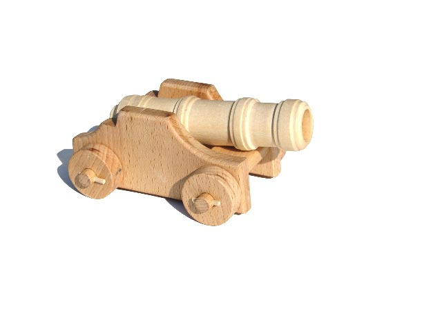 Pevnostní moždíř , dřevěná hračka