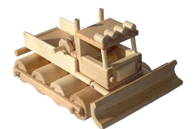 Rolba dřevěná hračka
