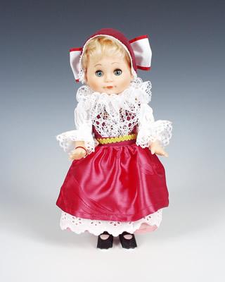 Smichov panenka v národní kroji